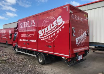 Removals tail lift truck