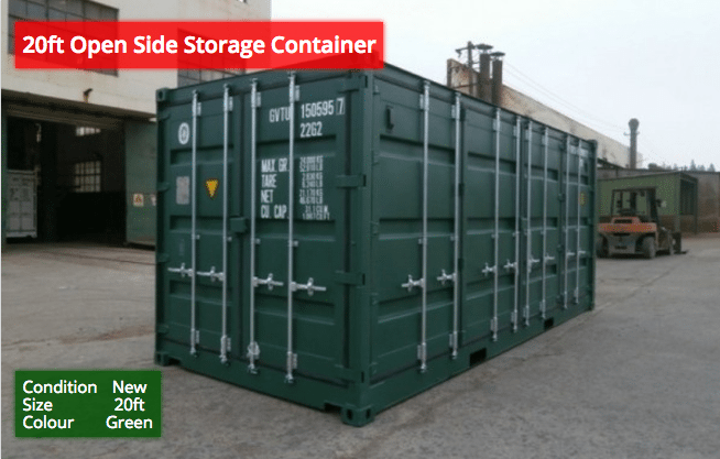 20ft Open Side Storage Containers